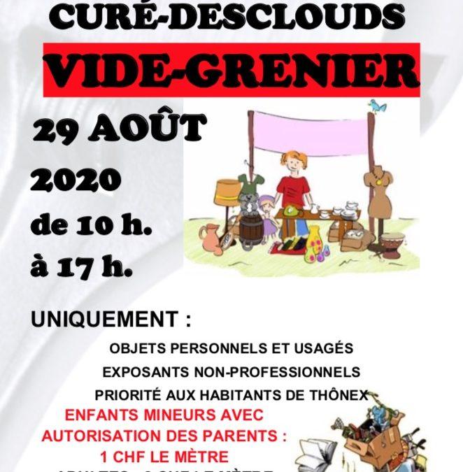 Vide – Greniers et fête 2020 – Reporté au 10 septembre 2020!!!