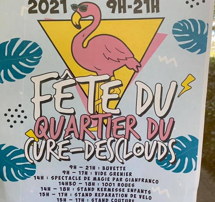 Fête du quartier le 9 septembre au Curé-Desclouds